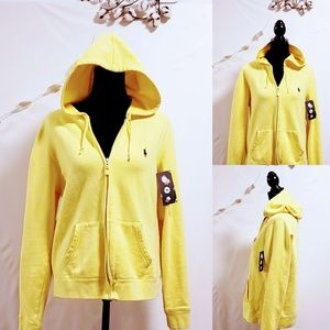 Polo RL Sport Yellow Hoodie size XL, Unisex